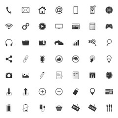 49 Different web vector icons.