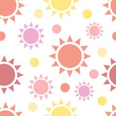 Multicolor suns seamless pattern