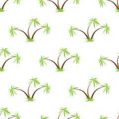 Palm trees seamless pattern
