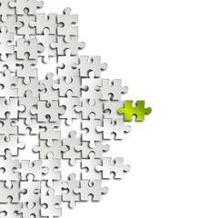 puzzle Elemente grün weiß papier hintergrund