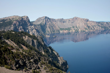 Crater Lake is what remains of Mount Mazama, the massive volcano that exploded 10,000 years ago and drastically altered the landscape of the western United States.