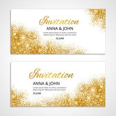 Gold wedding invitation 1