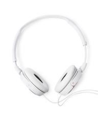 Pair of white headphones