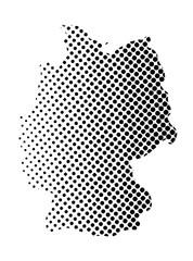 Germany map halftone vector symbol icon  design. illustration isolated on white background.