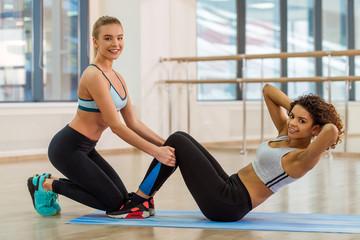 Girls in fitness class
