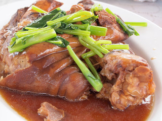 Stewed pork leg ,Thailand food