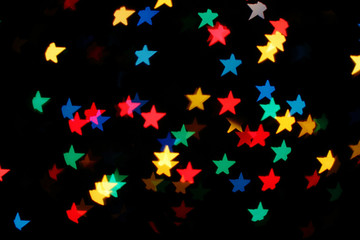 Shooting Stars glowing lights/background with falling glowing multicolored stars