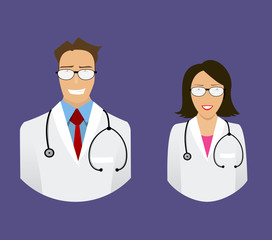 medical doctor profile icons