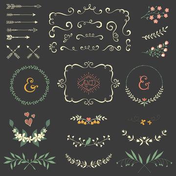 Scroll Floral Set