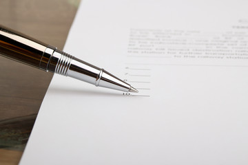Business person  is signing a contract, business contract detail