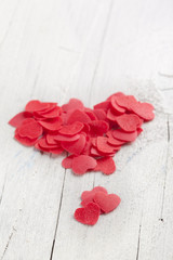 red hearts valentine's day on an isolated white background