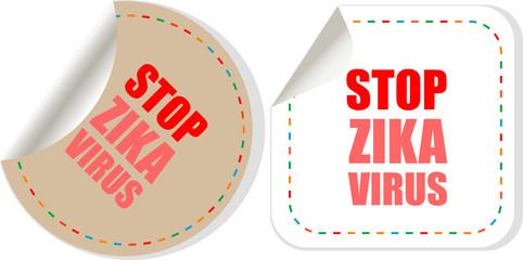Zika virus symbol. Zika virus disease - transmission. Pest control. Linear design. Isolated vector illustration.