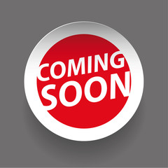 Coming soon sticker vector