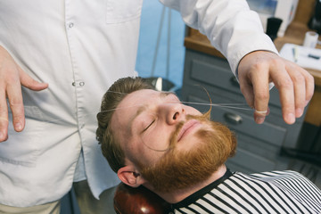 Arranging barber beard
