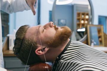 Arranging barber beard