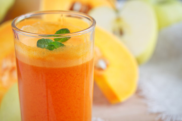 Fresh juice, mix fruits and vegetable. Healthy food