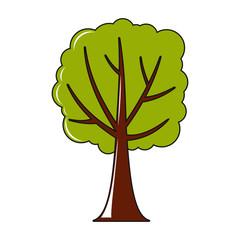Tree icon in cartoon style