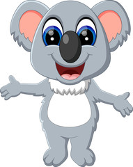 illustration of cute koala cartoon