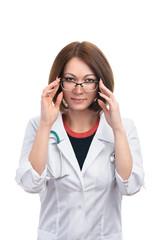Beautiful woman doctor.