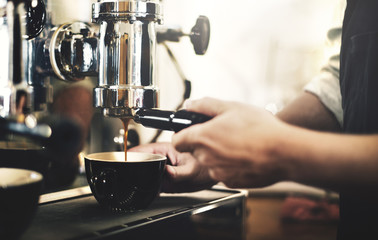 Barista Cafe Making Coffee Preparation Service Concept