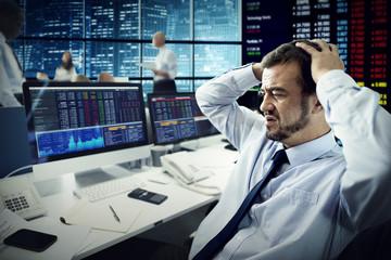 Businessman Stress Failed Unsuccessful Stock Concept