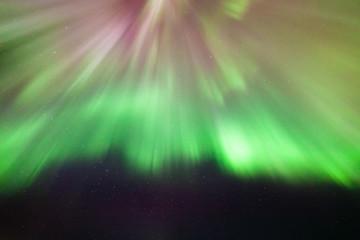 Northern lights corona above