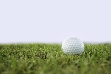 golf-ball on course isolate