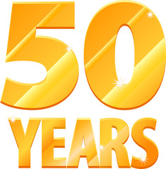 Gold 50 years anniversary vector image