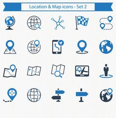 Location & Map icons - Set 2