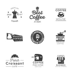 coffee logo vintage vector set