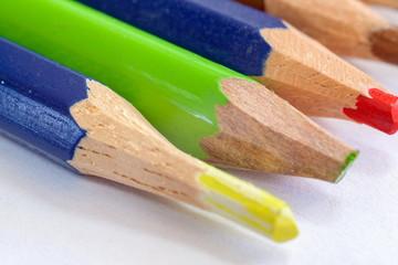 Macro photo of colored pencils.