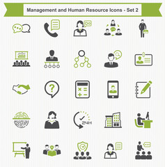 Management and Human Resource Icons - Set 2