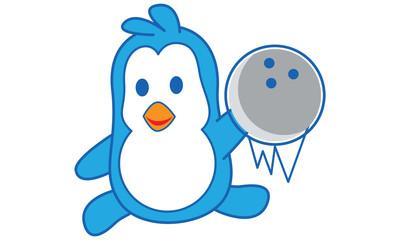 Penguin Playing Bowling