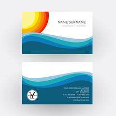 Vector Abstract summer, sea an sun. Business card