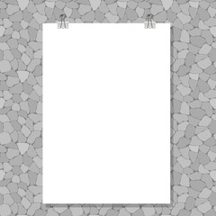 Template - blank sheet of paper