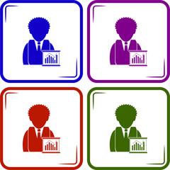Businessman - Business chart