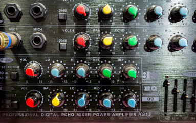 Music mixer with controls