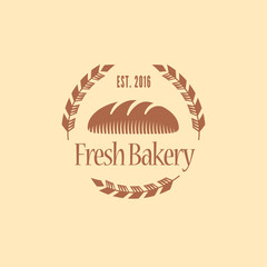Vector logo, design element for bakery. Traditional design bakery icon / sign