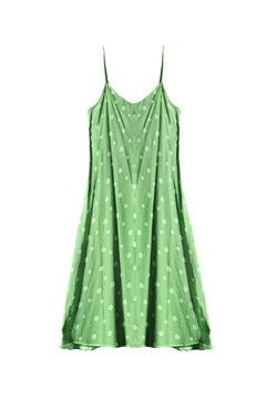 Green sundress isolated