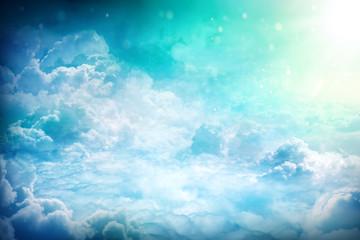 Keuken foto achterwand Hemel Over the Clouds