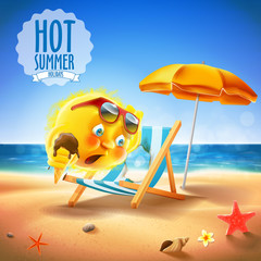 hot summer with sun