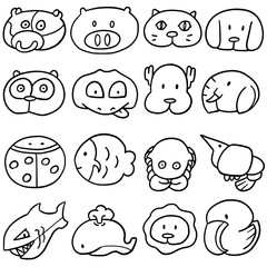 vector set of animal