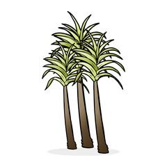 cartoon palm tree
