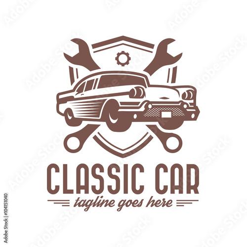 Vector Car Logo Set Classic Car Logo Template Stock Image And