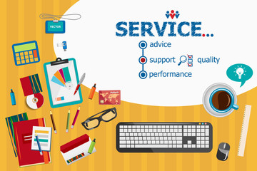Service and flat design illustration concepts for business