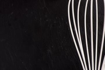 Wire whisk still life