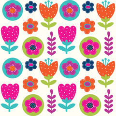 spring flower pattern cute and colorful design