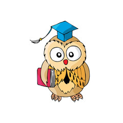 Cartoon Owl Its Smart