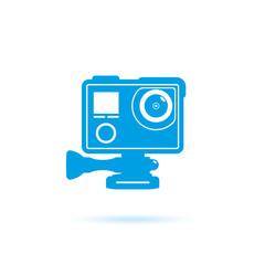 Action camera icons. illustration. Vector image isolated on white background.