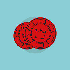 Casino icon. Casino simbol. Casino concept illustration. Casino vector sign. Casino on flat style